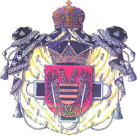 Coat of Arms of Prince Juan Arcadio Lascaris Comnenus.
