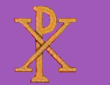 The Monogram of Christ, revealed to Constantine the Great who adopted it as a unifying symbol of his troops; leading them to victory and his founding of the New Roman Empire or Byzantium.